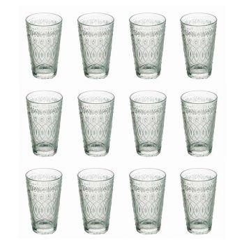 12 Copos de bebida de vidro transparente decorado para bebidas - Maroccobic