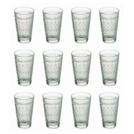 12 Copos de bebida em vidro transparente decorado para bebidas - Maroccobic