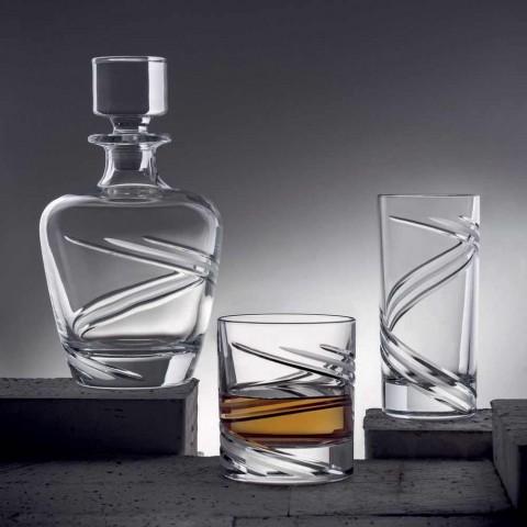 12 copos altos de coquetel em cristal ecológico italiano - ciclone