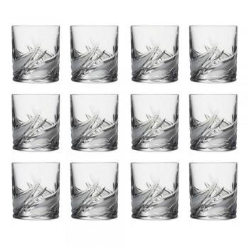 12 Copos de Whisky de cristal baixo copo duplo antiquado - Advento