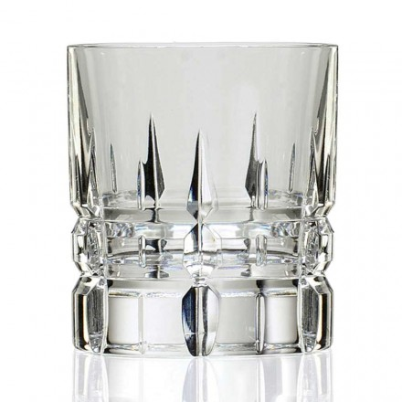 12 Copos de Whisky Basso Double Old Fashioned Tumbler em Cristal - Fiucco