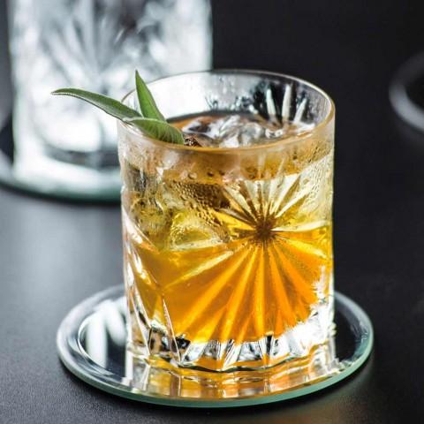 12 copos duplos antiquados com design Eco Crystal - Daniele