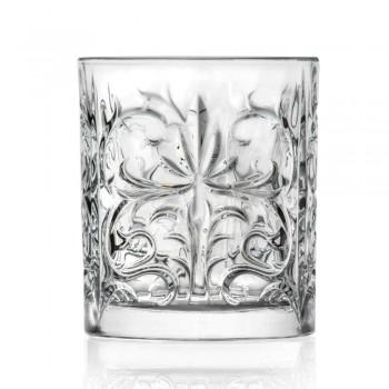 12 Copos Duplos Antiquados em Eco Cristal Luxo - Destino