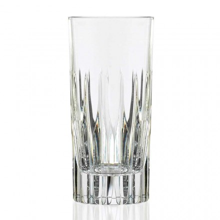 Copos de bebida longa com 12 copos altos em cristal ecológico - Voglia
