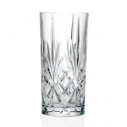 12 copos, copo alto, highball para coquetel em Eco Crystal - Cantabile