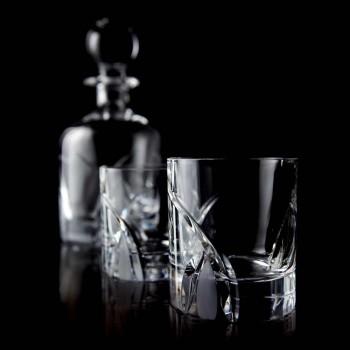 12 copos baixos em design de luxo Eco Crystal - Montecristo