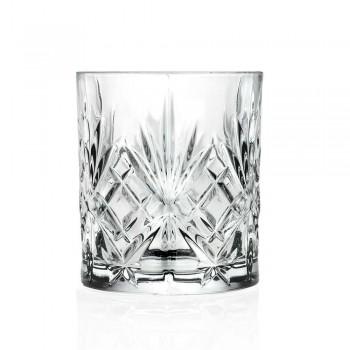 12 copos de vidro com design vintage em vidro sonoro Eco Superior - Cantabile