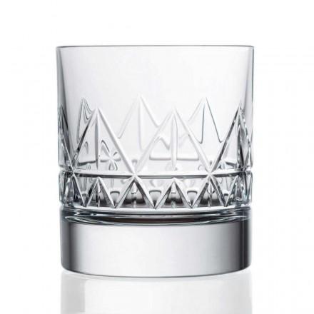 Uísque ou copos de água de 12 cristal de luxo com design vintage - arritmia