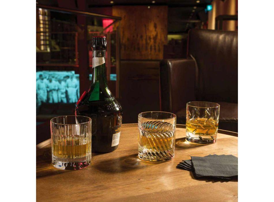 12 Copos de Whisky ou Crystal Water com Decoração Linear de Luxo - Arritmia