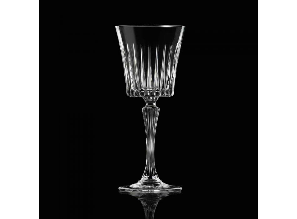12 Copos de Vinho de Coquetel de Água Cristal Ecológica Luxo - Senzatempo