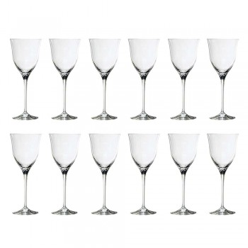 12 taças de vinho branco em cristal ecológico design de luxo mínimo - suave