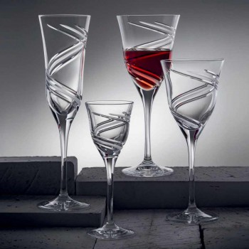 12 taças de vinho tinto em cristal ecológico de luxo sem chumbo - ciclone