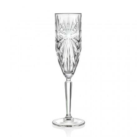 Taças de 12 flautas para champanhe ou prosecco em Eco Cristal - Daniele