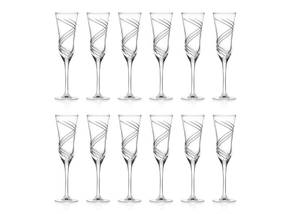 12 taças para taças de champanhe em cristal ecológico decorado inovador - ciclone