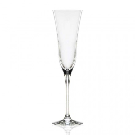 12 copos de flauta em cristal de luxo ecológico, design minimalista - suave