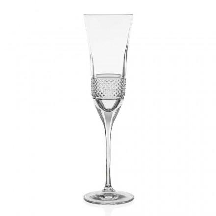 12 Copos de flauta de champanhe de cristal ecológico, decorados à mão - Milito