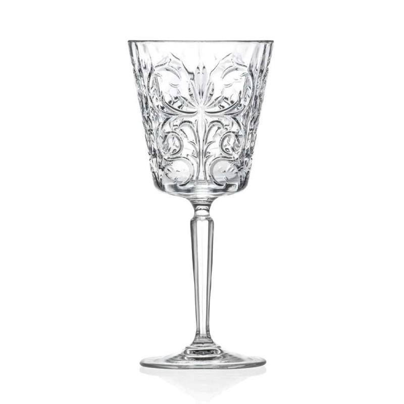 12 Copos de Água, Drinks ou Coquetel Design no Decorado Eco Cristal - Destino