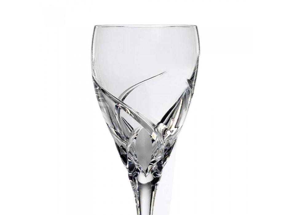12 taças de degustação de vinhos de design luxuoso em Eco Crystal - Montecristo