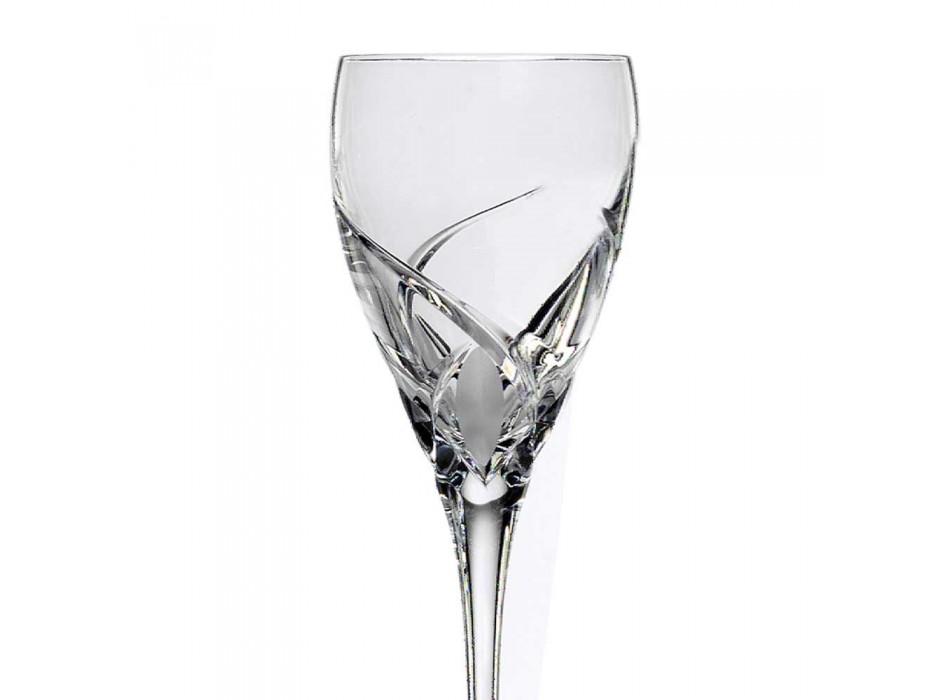 12 Copos para Vinho Branco em Design Ecológico de Cristal Luxo - Montecristo