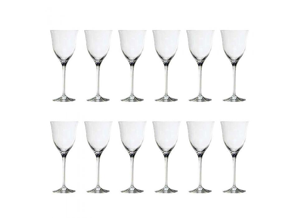 12 taças de vinho tinto em design minimalista luxuoso de cristal ecológico - suave