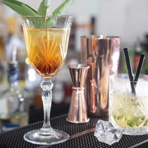 12 copos de vinho, água e coquetel no estilo vintage de cristal ecológico - Cantabile