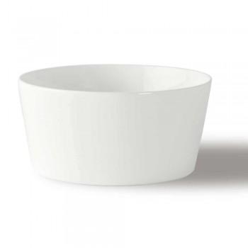 12 Sorvetes de porcelana branca de design moderno ou copos de frutas - Egle