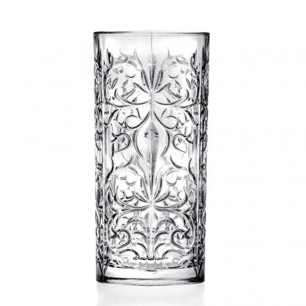 Copo de coquetel Highball de 12 copos altos ou água decorada de luxo - Destiny
