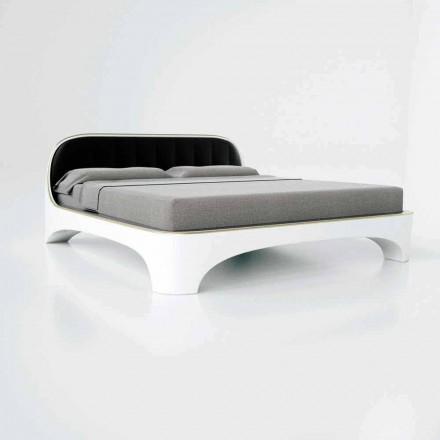 Design moderno de luxo cama de casal Elegance, made in Italy