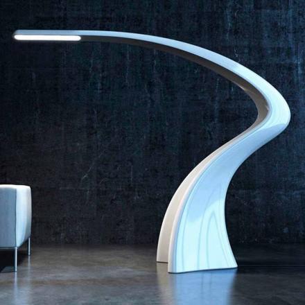 Luminária de piso de design moderno Solid Surface Lumia, made in Italy