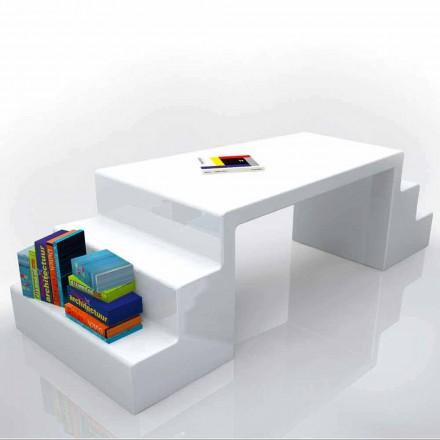 Mesa de escritório de design moderno Abbott, disponível em branco, verde ou moka