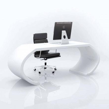 Mesa de escritório design moderno de superfície sólida Adams, feito à mão na Itália