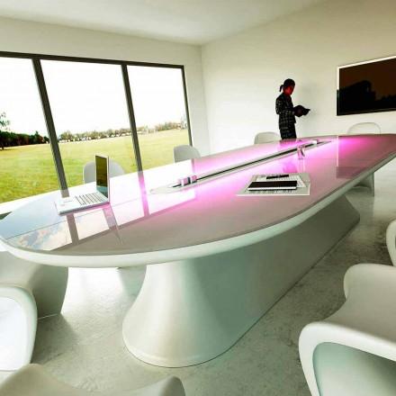 Mesa de conferência de design contemporâneo Info Table, design italiano