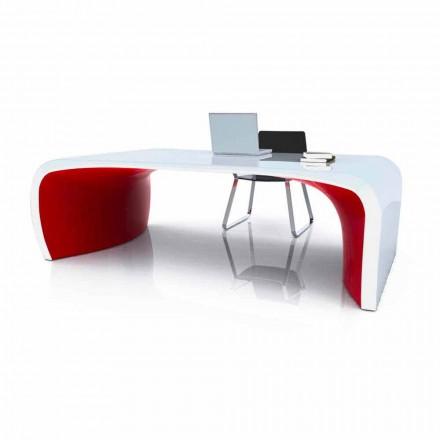 Mesa de escritório design moderno Sonar, produto artesanal feito na Itália