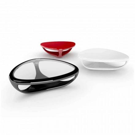 Design moderno mesa de café Superfície Sólida Genesi, made in Italy