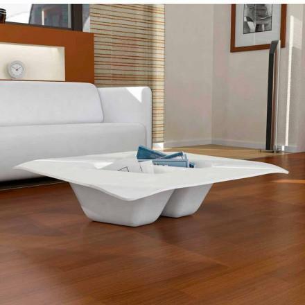 Mesa de centro design contemporâneo de superfície maciça Manta, made in Italy