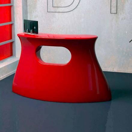 Design moderno recepção Solid Surface Bob, feito à mão na Itália