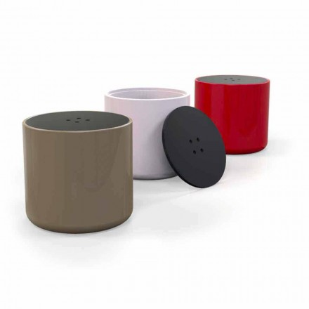 Design moderno mesa de café Superfície Sólida / pouffe Button, made in Italy