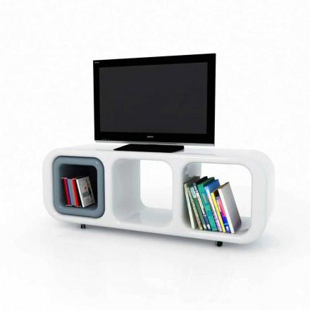 Design moderno suporte de TV Solid Surface Eracle, feito à mão na Itália