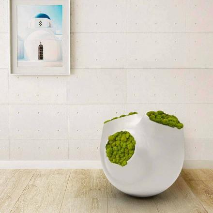 Vaso de design moderno Luna, disponível em branco ou preto, fabricado na Itália