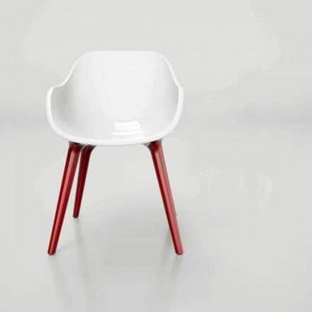 Design moderno Solid Surface cadeira Manù, estilo escandinavo feito na Itália