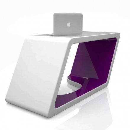 Mesa de escritório design contemporâneo de superfície sólida Abercrombie, fabricada na Itália