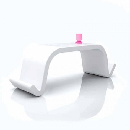 Mesa de escritório design moderno de superfície sólida Acton em branco, dourado ou preto