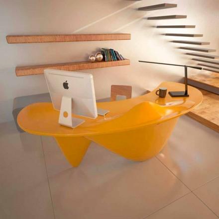 Mesa de escritório de design contemporâneo Sinuous, handmade in Italy