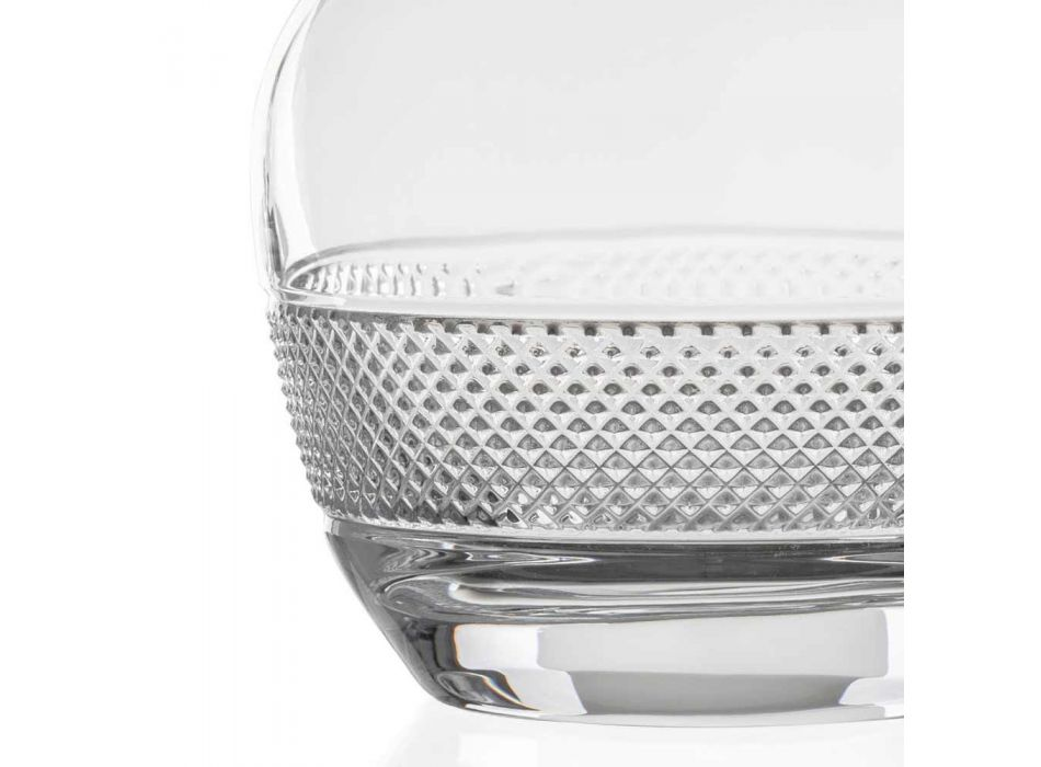 2 Garrafas de Vinho com Tampa de Cristal Ecológico Design Redondo - Milito