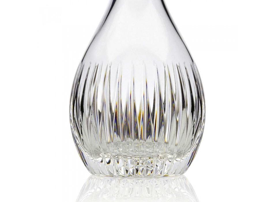 2 garrafas de vinho de luxo italiano ecológico moído à mão em cristal - desejo