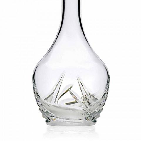 2 garrafas de vinho Eco Crystal com tampa e decorações redondas - Advento