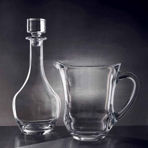 2 Garrafas para Vinhos em Cristal Ecológico Italiano Minimal Design - Suave