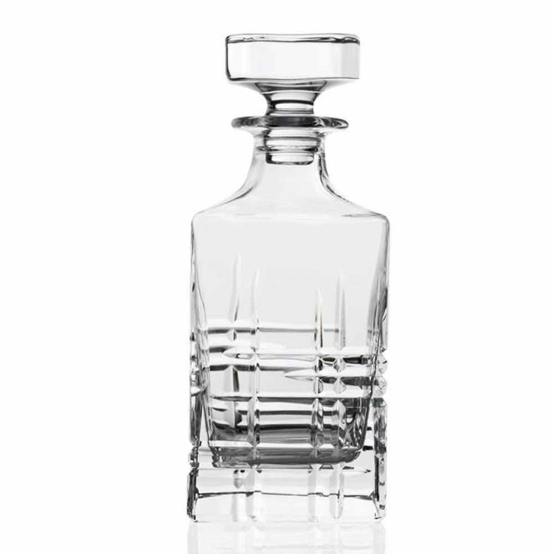 2 garrafas de uísque com tampa de design quadrada decorada com cristal - arritmia