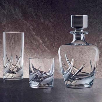 2 Garrafas de Whisky Cristal com Tampa de Design Decorado de Luxo - Advento
