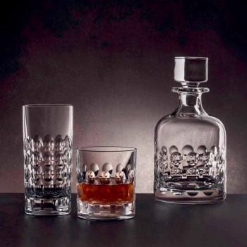 2 garrafas de whisky em cristal ecológico decoradas com tampa - titanioball